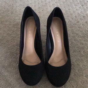Kelly & Katie round toed suede heels